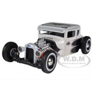 พรีออเดอร์ รถเหล็ก รถโมเดล US 1929 Ford Model A Harley Special Edition Maisto สีขาว สเกล 1:24