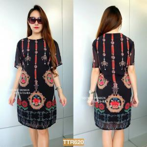 "TTR620**สีดำ**รอบอก44"" DOLCE & GABBANA FELICITOUS DRESS"