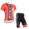 ชุดปั่นจักรยานแขนสั้นทีม Specialized เสื้อปั่นจักรยาน กับ กางเกงปั่นจักรยาน สีแดง 175