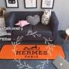 พรมเช็ดเท้า ลาย HERMES สีส้ม