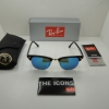Ray Ban RB3016 114517 Clubmaster TORTOISE/BLUE FLASH LENS 51MM