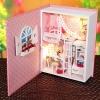 บ้านตุ๊กตาจิ๋ว Baby Diary mini books diy hut ในหนังสือ