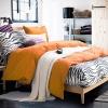 ผ้าปูที่นอน ลายม้าลาย Zebra Bedding สีส้ม