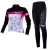 ชุดปั่นจักรยานผู้หญิงแขนยาวทีม BIANCHI MILANO เสื้อปั่นจักรยาน กับ กางเกงปั่นจักรยาน สีชมพู 127