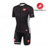 ชุดปั่นจักรยานแขนสั้นทีม Castelli 3T เสื้อปั่นจักรยาน กับ กางเกงปั่นจักรยาน สีดำ 172