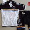 ชุดปั่นจักรยานแขนสั้นทีม Bianchi Milano เสื้อปั่นจักรยาน กับ กางเกงปั่นจักรยาน สีขาวดำ 141
