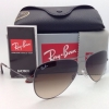 Ray Ban RB 3513 147/13 AVIATOR FLAT METAL Gunmetal Frame Brown Fade