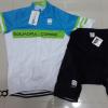ชุดปั่นจักรยานแขนสั้นทีม SPORTFUL เสื้อปั่นจักรยาน กับ กางเกงปั่นจักรยาน สีขาวฟ้าเขียว 180