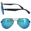 New Ray Ban RB3523 029/55 Gunmetal Blue Mirror