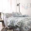 ผ้าปูที่นอน ลายใบไม้ สีเทาอ่อน