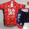 ชุดปั่นจักรยานแขนสั้นทีม DRAPAC เสื้อปั่นจักรยาน กับ กางเกงปั่นจักรยาน สีแดง 162