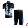 ชุดปั่นจักรยานแขนสั้นทีม Trek Discovery เสื้อปั่นจักรยาน กับ กางเกงปั่นจักรยาน สีดำ 100