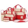 กระเป๋าเด็กอ่อน ใส่สัมภาระลูก Set 5 ชิ้น สีแดง