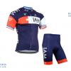 ชุดปั่นจักรยานแขนสั้นทีม I AM เสื้อปั่นจักรยาน กับ กางเกงปั่นจักรยาน สีน้ำเงิน 068