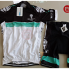 ชุดปั่นจักรยานแขนสั้นทีม Bianchi Milano เสื้อปั่นจักรยาน กับ กางเกงปั่นจักรยาน สีขาวดำคลิบเขียว 144