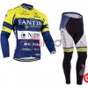 ชุดปั่นจักรยานแขนยาวทีม FANTINI เสื้อปั่นจักรยานแขนยาว กับ กางเกงปั่นจักรยานขายาว สีน้ำเงิน 097