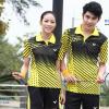 ชุดแบดมินตัน เสื้อแบดมินตัน VICTOR สีเหลือง : 411