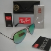 Ray Ban Aviator RB3025 002/4J 58mm Black Frame Green Gradient Mirror
