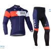 ชุดปั่นจักรยานแขนยาวทีม I AM เสื้อปั่นจักรยานแขนยาว กับ กางเกงปั่นจักรยานขายาว สีน้ำเงิน 074
