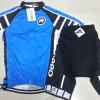 ชุดปั่นจักรยานผู้หญิงแขนสั้นทีม Assos เสื้อปั่นจักรยาน กับ กางเกงปั่นจักรยาน สีน้ำเงินดำ185