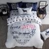 ผ้าปูที่นอน ลายสวย สวย สีขาว-ดำ