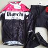 ชุดปั่นจักรยานผู้หญิงแขนยาวทีม BIANCHI MILANO เสื้อปั่นจักรยาน กับ กางเกงปั่นจักรยาน สีดำชมพู 150