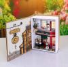 บ้านตุ๊กตาจิ๋ว DIY mini book case - ร้านกาแฟในหนังสือ