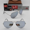 Ray Ban RB3025 019/W3 Aviator MATTE SILVER / POLARIZED SILVER MIRROR 58mm