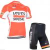 ชุดปั่นจักรยานแขนสั้นทีม LOTTO SOUDAL เสื้อปั่นจักรยาน กับ กางเกงปั่นจักรยาน สีส้ม 133