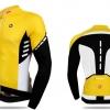เสื้อปั่นจักรยานแขนยาว SOUKE สีเหลือง : CL3103