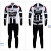 ชุดปั่นจักรยานแขนยาวทีม BMC เสื้อปั่นจักรยานแขนยาว กับ กางเกงปั่นจักรยานขายาว สีขาวดำ 028