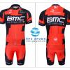 ชุดปั่นจักรยานแขนสั้นทีม BMC เสื้อปั่นจักรยาน กับ กางเกงปั่นจักรยาน สีแดงดำ 009