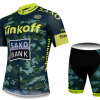 ชุดปั่นจักรยานแขนสั้นทีม SAXO BANK Tinkoff เสื้อปั่นจักรยาน กับ กางเกงปั่นจักรยาน สีเขียว 125
