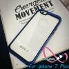 เคสไอโฟน7พลัส case iPhone7 Plus ขอบสีหลังใส