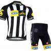 ชุดปั่นจักรยานแขนสั้นทีม MTN เสื้อปั่นจักรยาน กับ กางเกงปั่นจักรยาน สีขาวดำ 168