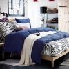 ผ้าปูที่นอน ลายม้าลาย Zebra Bedding สีน้ำเงิน