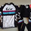 ชุดปั่นจักรยานผู้หญิงแขนยาวทีม Liv เสื้อปั่นจักรยาน กับ กางเกงปั่นจักรยาน สีขาวดำ 148