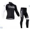 ชุดปั่นจักรยานแขนยาวทีม TREK เสื้อปั่นจักรยานแขนยาว กับ กางเกงปั่นจักรยานขายาว สีดำ 071