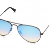 Ray Ban Aviator RB3025 002/4O 58mm Black Frame Blue Gradient Mirror