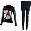 ชุดปั่นจักรยานผู้หญิงแขนยาวทีม FRANCAISE เสื้อปั่นจักรยาน กับ กางเกงปั่นจักรยาน สีดำ 107