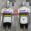 ชุดปั่นจักรยานแขนสั้นทีม Think Off 2016 เสื้อปั่นจักรยาน กับ กางเกงปั่นจักรยาน สีขาว 303