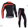 ชุดปั่นจักรยานแขนยาวทีม Castelli 3T เสื้อปั่นจักรยานแขนยาว กับ กางเกงปั่นจักรยานขายาว สีดำแดง 067