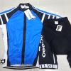 ชุดปั่นจักรยานแขนสั้นทีม Assos เสื้อปั่นจักรยาน กับ กางเกงปั่นจักรยาน สีน้ำเงินดำ 181