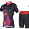 ชุดปั่นจักรยานผู้หญิง CHEJI เสื้อปั่นจักรยาน กับ กางเกงปั่นจักรยาน สีดำลาย 080