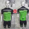 ชุดปั่นจักรยานแขนสั้นทีม Cannondale 2016 เสื้อปั่นจักรยาน กับ กางเกงปั่นจักรยาน สีดำเขียว 312