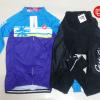 ชุดปั่นจักรยานผู้หญิงแขนยาวทีม CASTELLI เสื้อปั่นจักรยาน กับ กางเกงปั่นจักรยาน สีน้ำเงินฟ้า164
