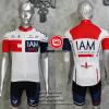 ชุดปั่นจักรยานแขนสั้นทีม I AM 2016 เสื้อปั่นจักรยาน กับ กางเกงปั่นจักรยาน สีขาว 306