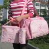 กระเป๋าคุณแม่ กระเป๋าใส่ของเด็กอ่อน สัมภาระลูกน้อย สีชมพู แมลงเต่าทอง Set สุดคุ้ม 3 ใบ