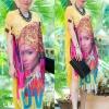 """รหัสTK1422 **รอบอก42"""" Luxury floral lace Chanel dress สีเหลือง"""