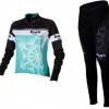 ชุดปั่นจักรยานผู้หญิงแขนยาวทีม BIANCHI MILANO เสื้อปั่นจักรยาน กับ กางเกงปั่นจักรยาน สีเขียว 128